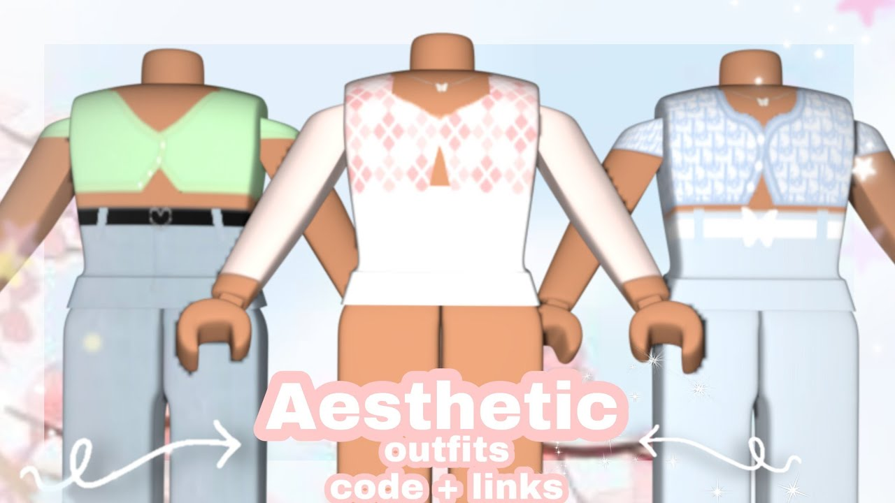 Aesthetic Outfits With Codes And Links Youtube Roblox bloxburg gold aesthetic decal ids video download. aesthetic outfits with codes and links