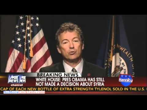 Rand Paul: Obama is going against the Constitution if he attacks Syria without approval of Congress