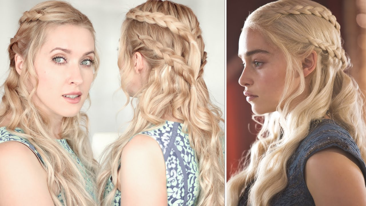 8 Hairstyles: Tuto Coiffure Game Of Thrones: Tresse De Daenerys/Khaleesi