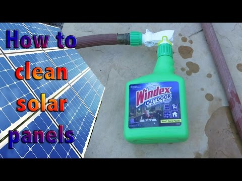 How to clean solar panels