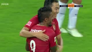 Tianjin Teda 0-3 Guangzhou Evergrande(Paulinho 2 goals)