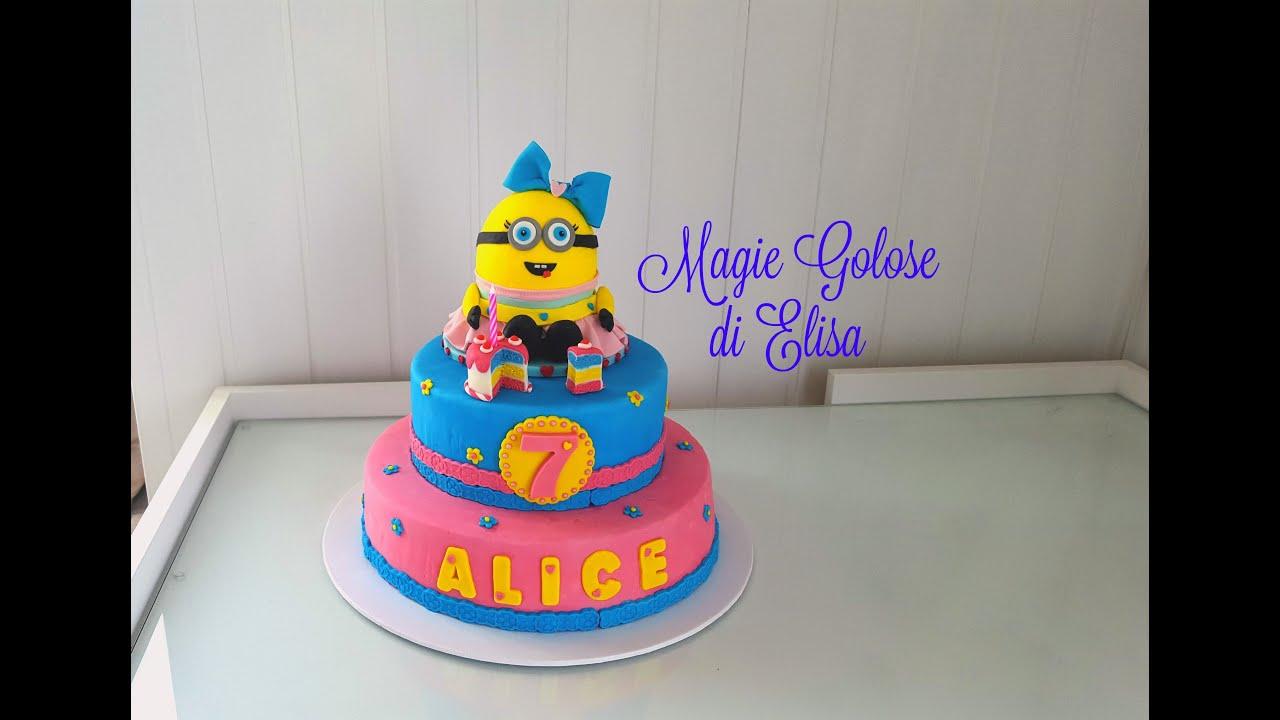 Bien connu Torta Compleanno Minion pasta di zucchero - Minion Fondant  OE14