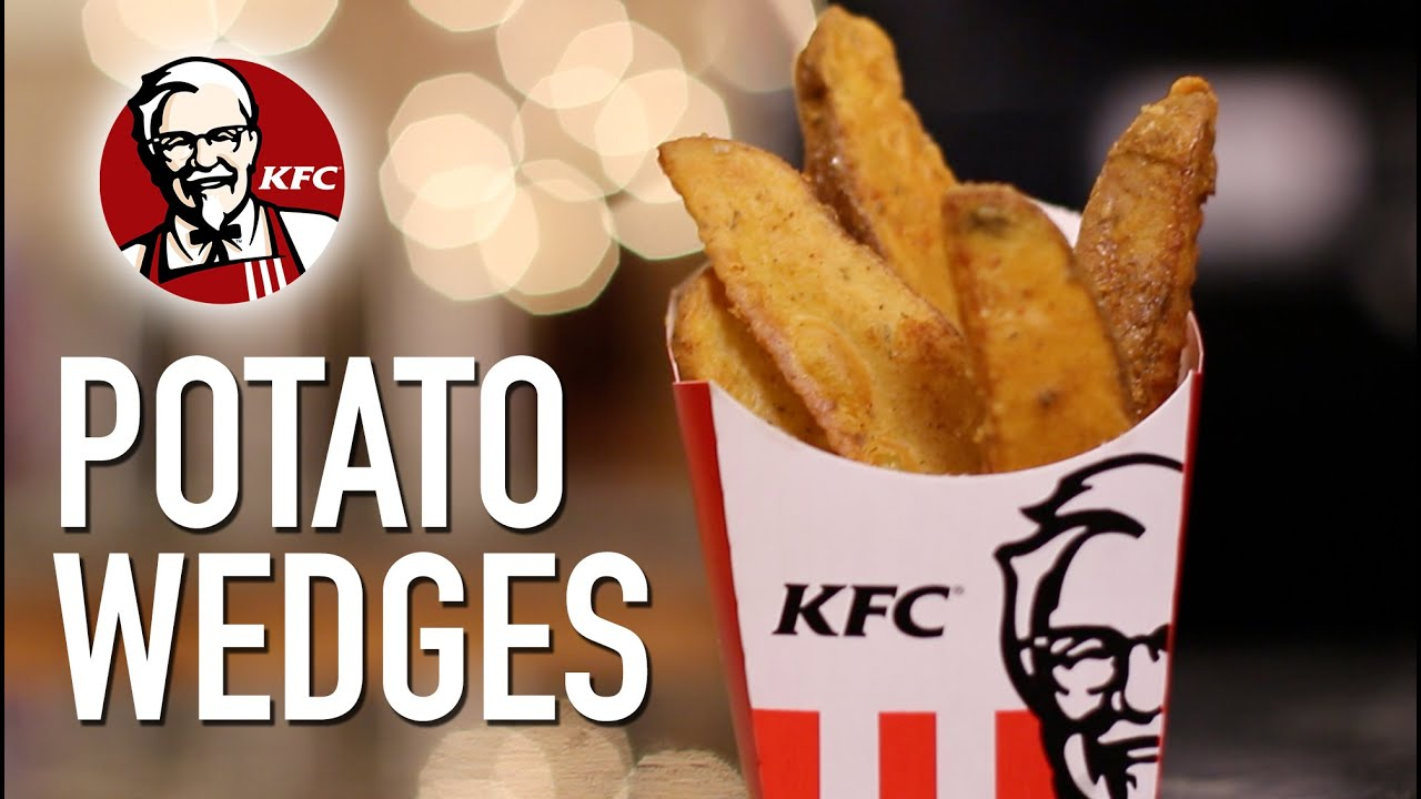 DIY KFC Potato Wedges - YouTube