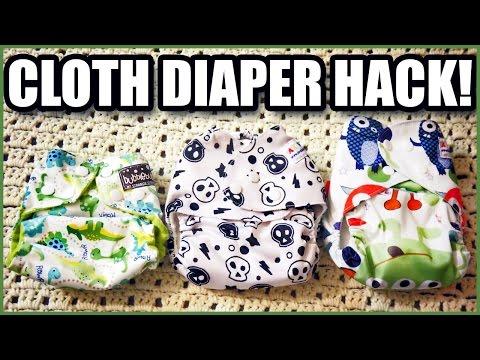 One Size Cloth Diaper - NEWBORN HACK!