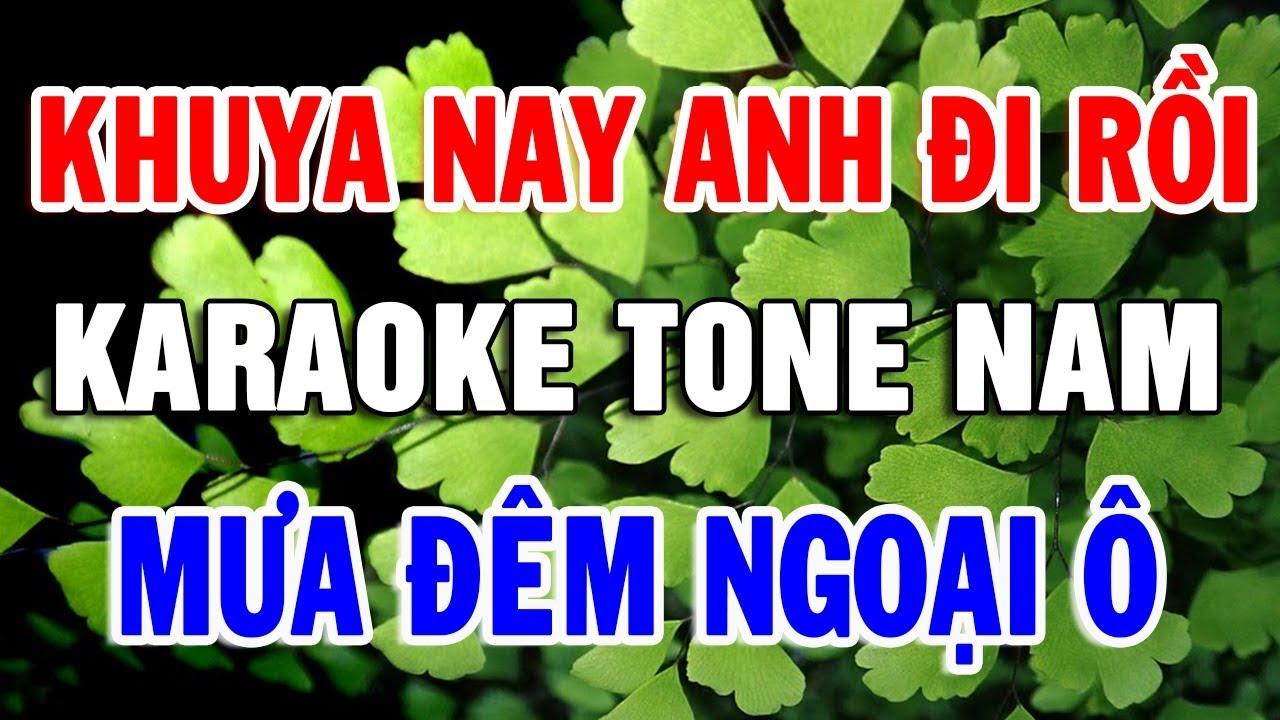 Karaoke Nhạc Sống Bolero Nhạc Vàng Xưa TONE NAM | Liên khúc Khuya Nay Anh Đi Rồi | Trọng Hiếu