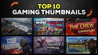 Top 10 Gaming Thumbnail Template | Free Download