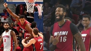 Hassan whiteside game winner! james johnson dunks on morris!