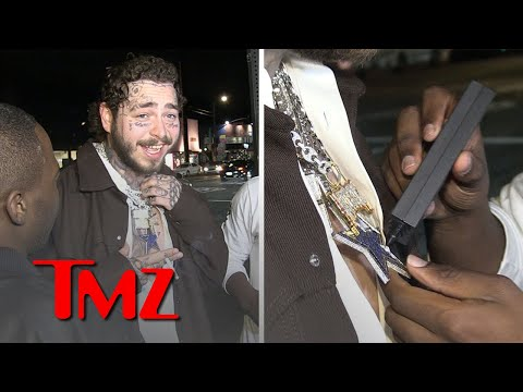 Post Malone Gets Diamonds Tested For Authenticity And They Check Out | TMZ