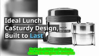 milton lunch box online shopping | Milton Legend Container Thermosteel Tiffin- 240ml (Steelplain)
