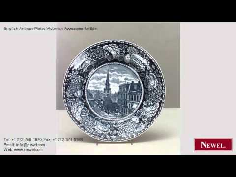 English Antique Plates Victorian Accessories for Sale