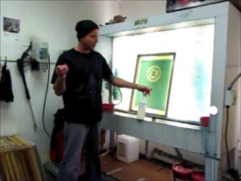 T-Shirt Screen Cleaning | Screen Reclaiming