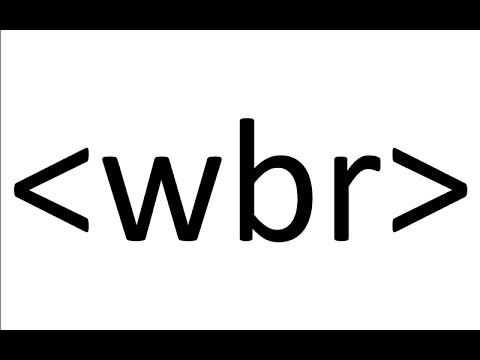 Wbr html5