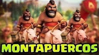 Clash Of Clans-Como No debes Atacar Con Montapuercos