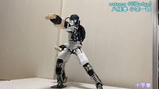 カンフーロボが八極拳を披露 (Bajiquan performance by Kung-fu Robot) 「小架一路」