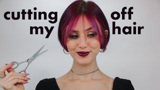 Cutting off my dead hair