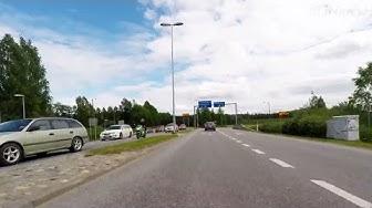 Driving from Savonlinna Prisma to Punkaharju Harjutie crossroads