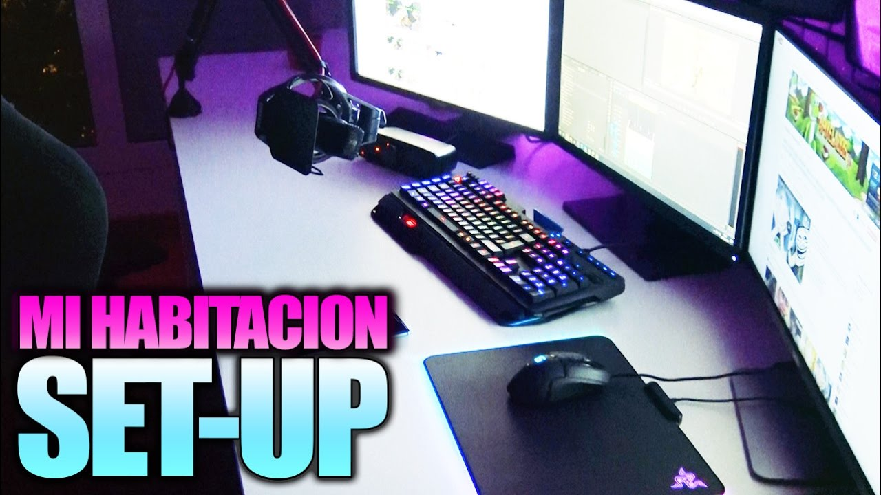 Set up gamer mi habitacion cueva youtuber vlog 2016 - Habitacion gaming ...