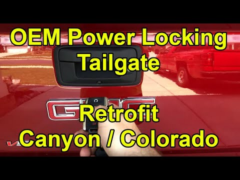 [HOW TO] Install OEM Power Locking Tailgate in a 2015-2019 GMC Canyon / Chevy Colorado (Retrofit)