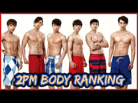 2PM MEMBERS BODY RANKING