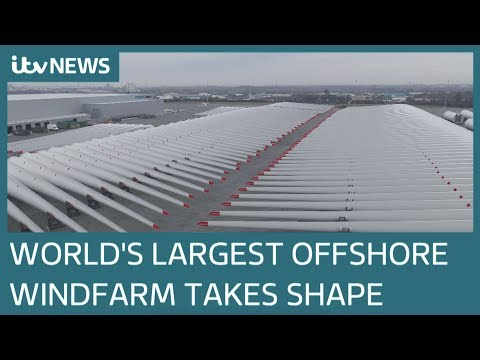 World's largest offshore wind farm takes shape on Yorkshire coast | ITV News