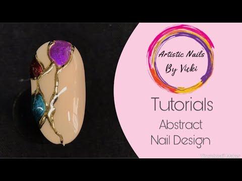 Abstract Nail Art Design Tutorial thumbnail