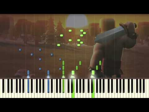Clash of Clan Music - Piano tutorial (Synthesia)