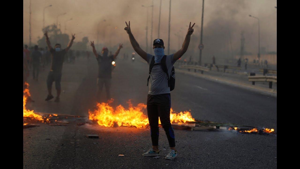 شاهد بالصور: مظاهرات وغضب في العراق ضد إيران وحكومة بغداد | سوريا اليوم