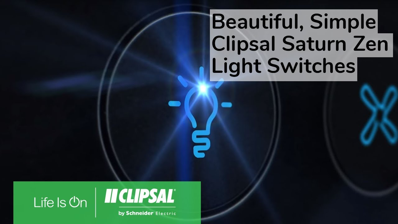 Clipsal Saturn Zen Wiring Diagram 8 Pin Rocker Switch Beautiful Simple Light Switches Youtube