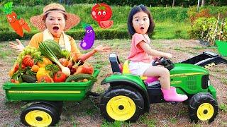 بو لام يتظاهران باللعب وركوب سيارات لعبة