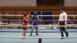H29 女子全日本 少女F級 志賀くるみ 対 上原花梨 ボクシング