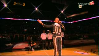 Golden Voice boy Sebastien De La Cruz Sings National Anthem - NBA Final 2014
