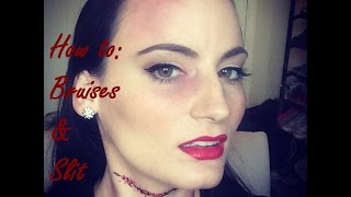 How to: Easy Bruises and Slit Throat Tutorial Thumbnail