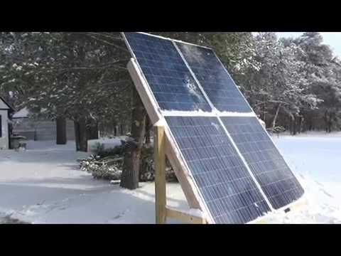 Day On The Snowy Homestead And Solar Power Production