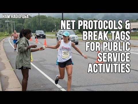 Net Protocols and Break Tags for Public Service Activities -