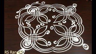 simple flower padi kolam for Dhanurmasam muggulu || Creative Sankranthi muggulu