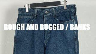 ROUGH AND RUGGED(ラフアンドラゲッド) 2021AW新作アイテム BANKS になります。 12ozのカラーデニムを使用したバギータイプデニムパンツです。 インディゴを縫製 ...