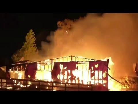 Flames Rip Through Abandoned Orange County Nursery