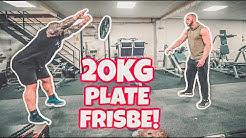 Strongman Tries 20kg Frisbee!