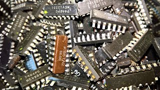 IC chips (incinerating) - Gold recovery