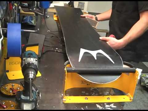 Eggbar Vise At Grizzly Outfitters Waxing And Tuning A Snowboard Youtube