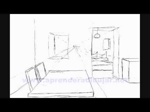 Dessin De L Interieur D Une Maison En Perspective Piece Et Chambre Comment Dessiner Youtube