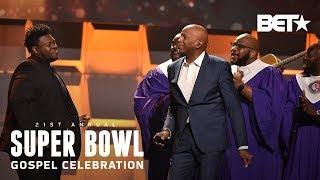 Donnie McClurkin & Melvin Crispell III Join NFL Choir For A Praise Session   Super Bowl Gospel 2020