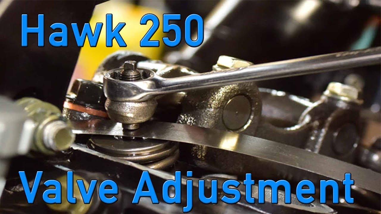 Hawk 250 Valve Lash Adjustment - Tao Tao TBR7 Honda CG