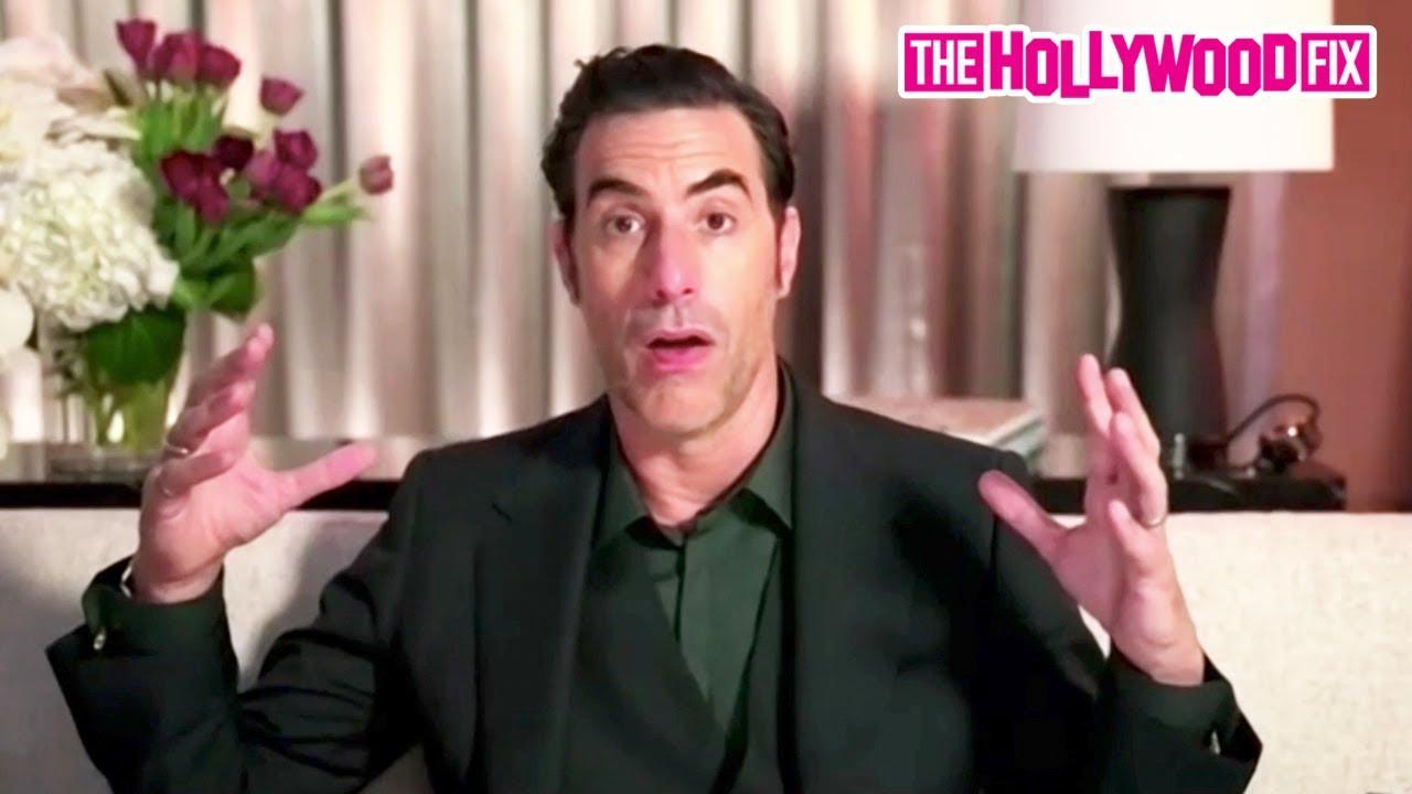 Sacha Baron Cohen Calls Out Donald Trump & Speaks On Borat At The Golden Globes Virtual Press Room