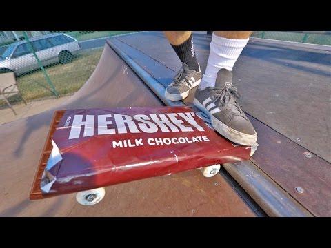 WORLD'S BIGGEST HERSHEY'S BAR SKATEBOARD!