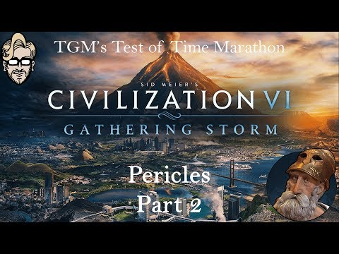 Let's Play Civilization 6: Gathering Storm - Deity - Pericles part 2