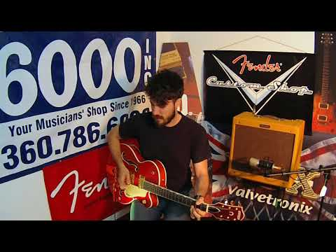 Louis at Music 6000 Plays Gretsch Guitars