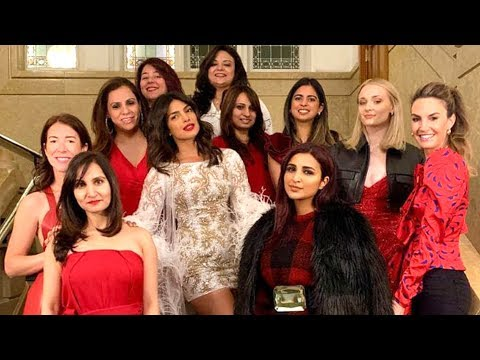 Priyanka Chopra Red, White And The Bride Themed Bachelorette Party | More Pictures