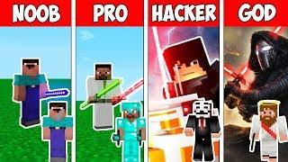 Minecraft NOOB vs PRO vs HACKER vs GOD : STAR WARS JEDI BATTLE in Minecraft ! AVM SHORTS Animation