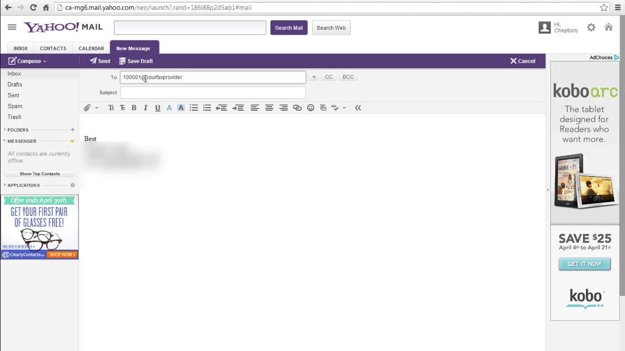 How To Send Fax From Yahoo E Mail